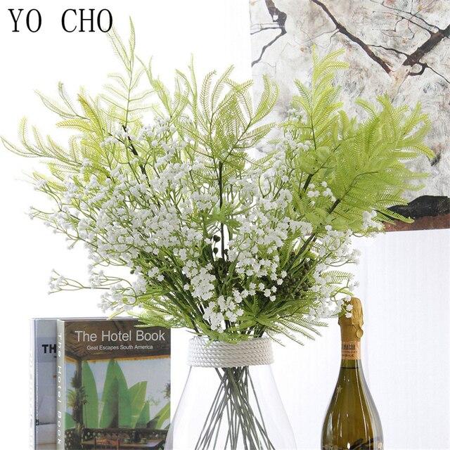 YO CHO10Pcs Artificial BabysBreath Flower Gypsophila Plant Wedding Party Decoration Real Touch Fake Flower DIY Home Garden Decor 5