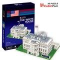 Medium Size Cubicfun 3D Paper Puzzle The White House United States C060h 64pcs 28*21*19CM Decorations