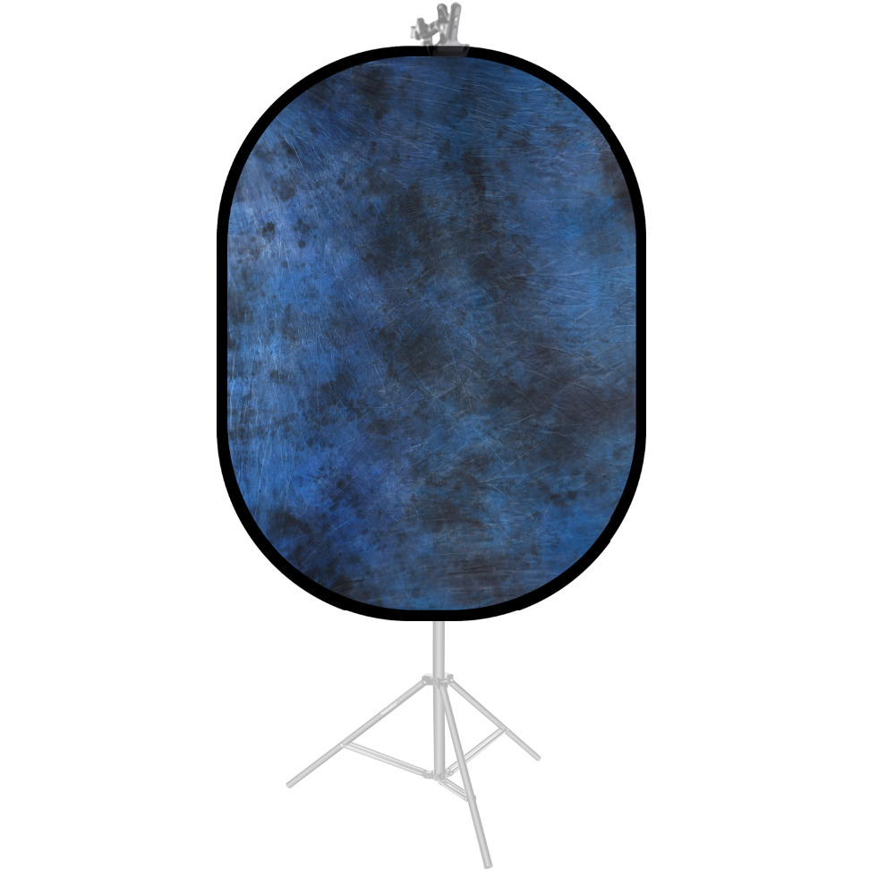 Neewer Blue Double-Side Pop-Out Muslin Backdrop-78.7 X 59 Inches/200 X 150 Centimeters Round Collapsible Background For Photo