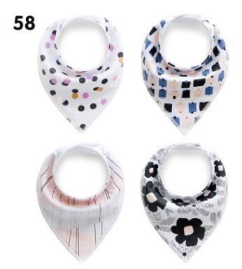 2017 NEW !! colorful element / Spring is coming /flower + polka dot / Bandana Bibs princess girl / 4pcs/set