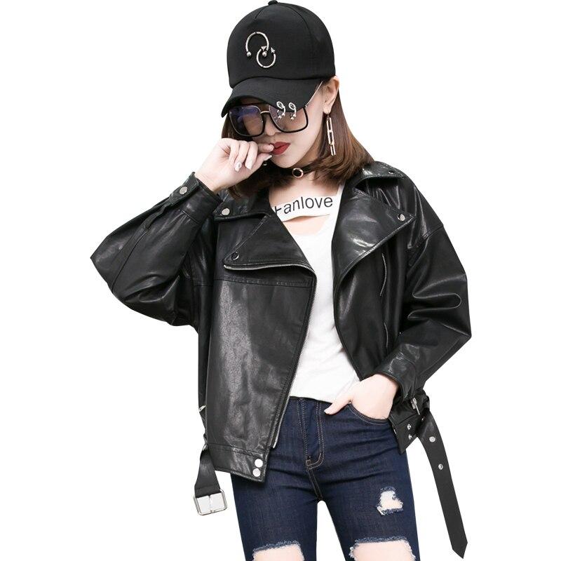 Véritable Noir Bombardier Cuir Manteaux Femmes Veste En Dames Clouté Bomber Black Moto Biker 0dYaqX
