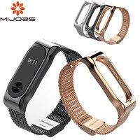 Bracciale Mijobs per Xiaomi mi band 2 cinturino in metallo cinturino senza viti braccialetti in acciaio inossidabile sostituisci cinturino MiBand 2