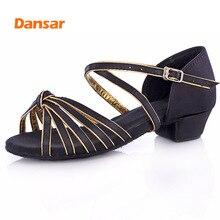 Children Tango Latin Dance Shoes High Quality Latin Woman Dancing Shoe Wholesale Dance Shoes for Girls Low Heel Salsa Sandals