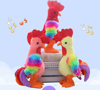 35cm high fun Electronic Pets toy for boys children with music gift Rooster repeat toy for kids indoor toys