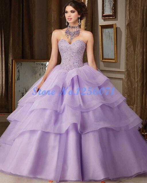 Fantasia vestido de Baile Em Camadas Vestidos Quinceanera Elegant Querida Quinceanera Vestido Chic Cheap Quinceanera Vestidos Debutante Vestido