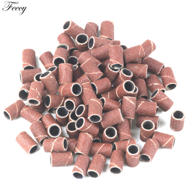 """100pcs 80''/120''/180"""" For Nail Art Sanding Bands Gel Polish Remover Tool Accessory for Electric Nail Machine Nail Drill Bits 1"""