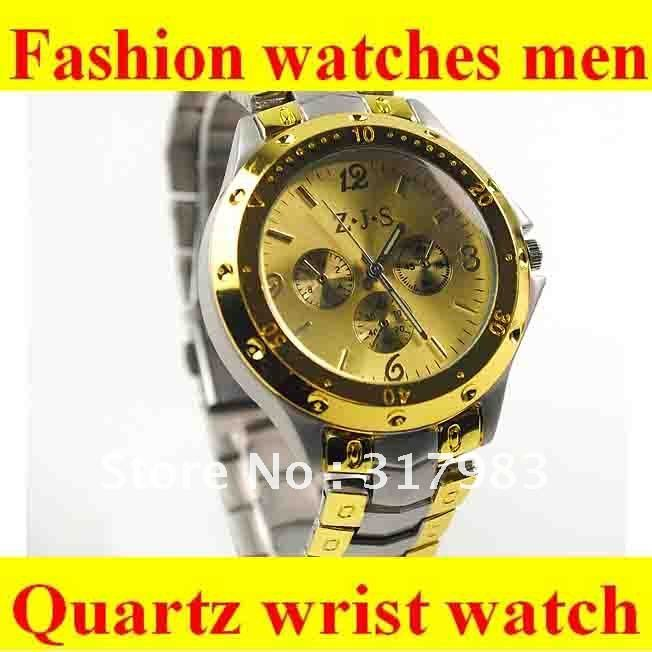 aliexpress com buy new arrival fashion men gold color stainless aliexpress com buy new arrival fashion men gold color stainless steel quartz wrist watch armbandubr analog watches men from reliable watches warehouse
