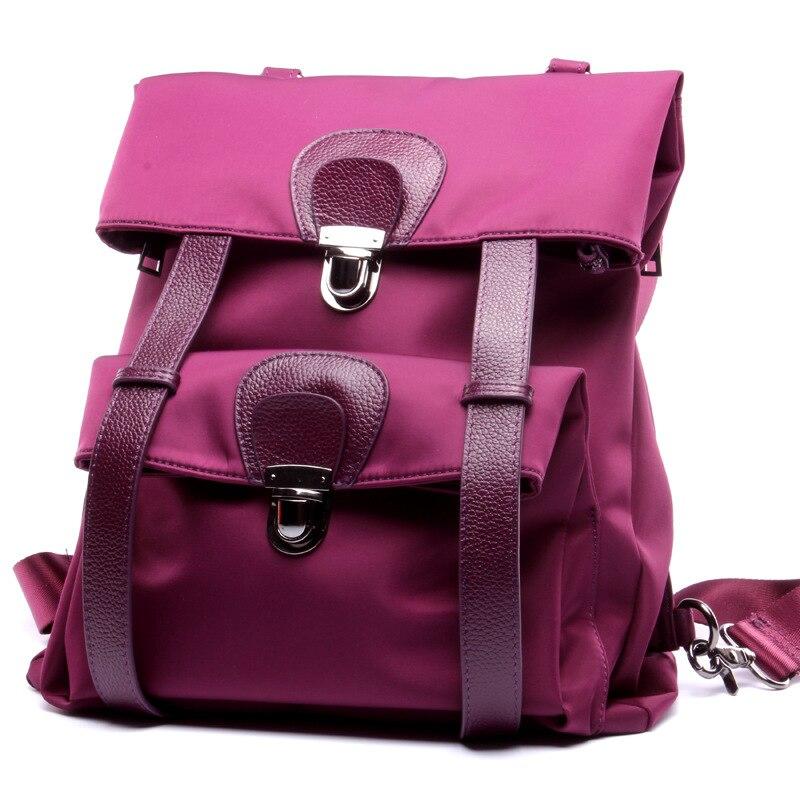 En Haute Vente Qualité Femmes purple À Filles Oxford Top Dos Black Mode Étanche Sac De Cuir Mochila Sacs D'école Avec Pour 7n70qxrdBw