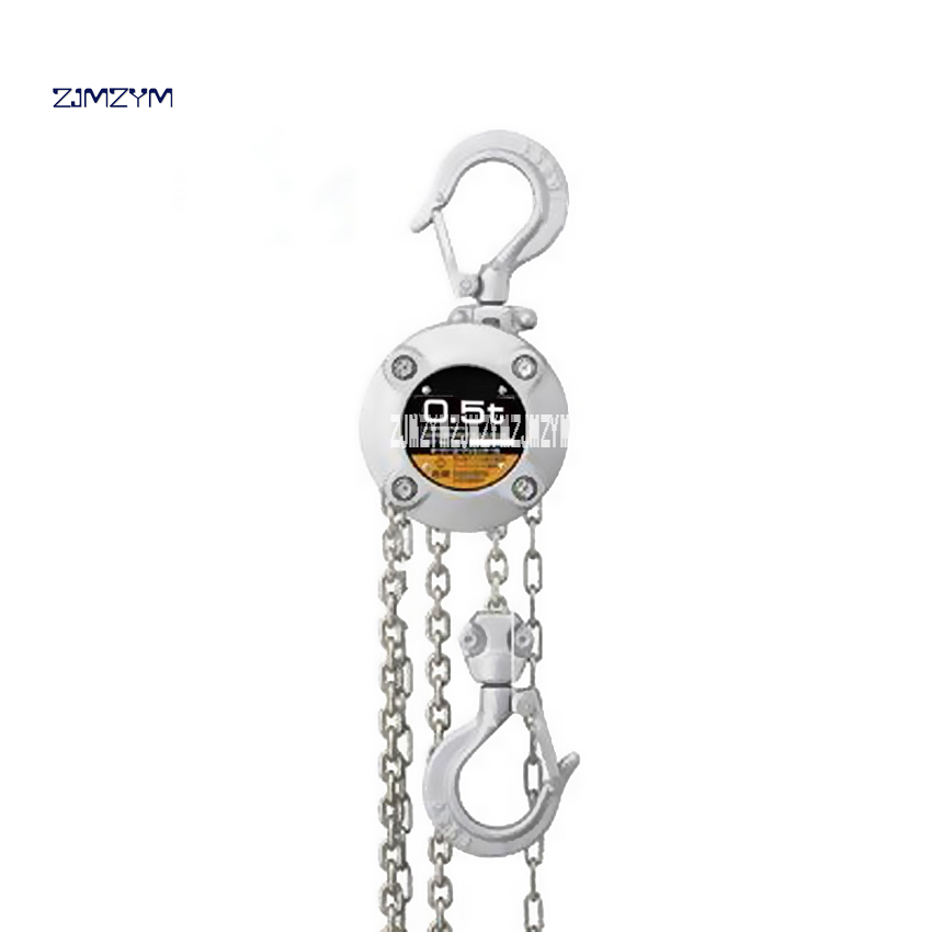 0.5TX3M Lifting Lever Chain Hoist 304 Stainless Steel Industrial 0.5 Tons Chain Block Crane Lifting Sling Material Handling Tool