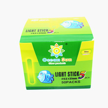 250Pcs/box 4.5*37mm 3.0*25mmNight Fishing Fluorescent Lightstick Light Float Green Color Lights Glow Stick fishing float