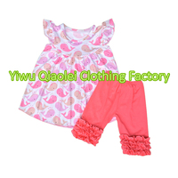 Wholesale Knitted Cotton Kids Clothes Little Girls Summer Unicorn Horse Clothes Girls Boutique Clothes