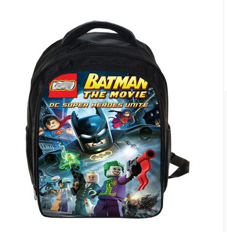 купить 13 Inch Super Hero Batman School Bags for Kindergarten Children kids School Backpack for Girls Boys Children's Backpacks Mochila онлайн