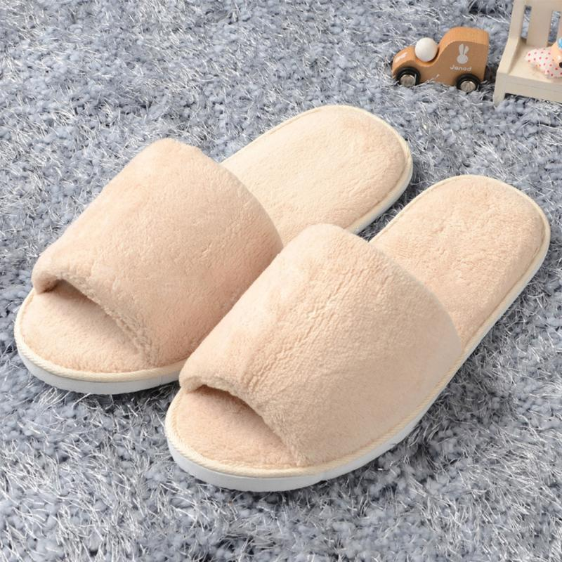 Womens/&Mens Open Toe Winter Slippers Warm Slippers Fleece House Indoor Shoes*