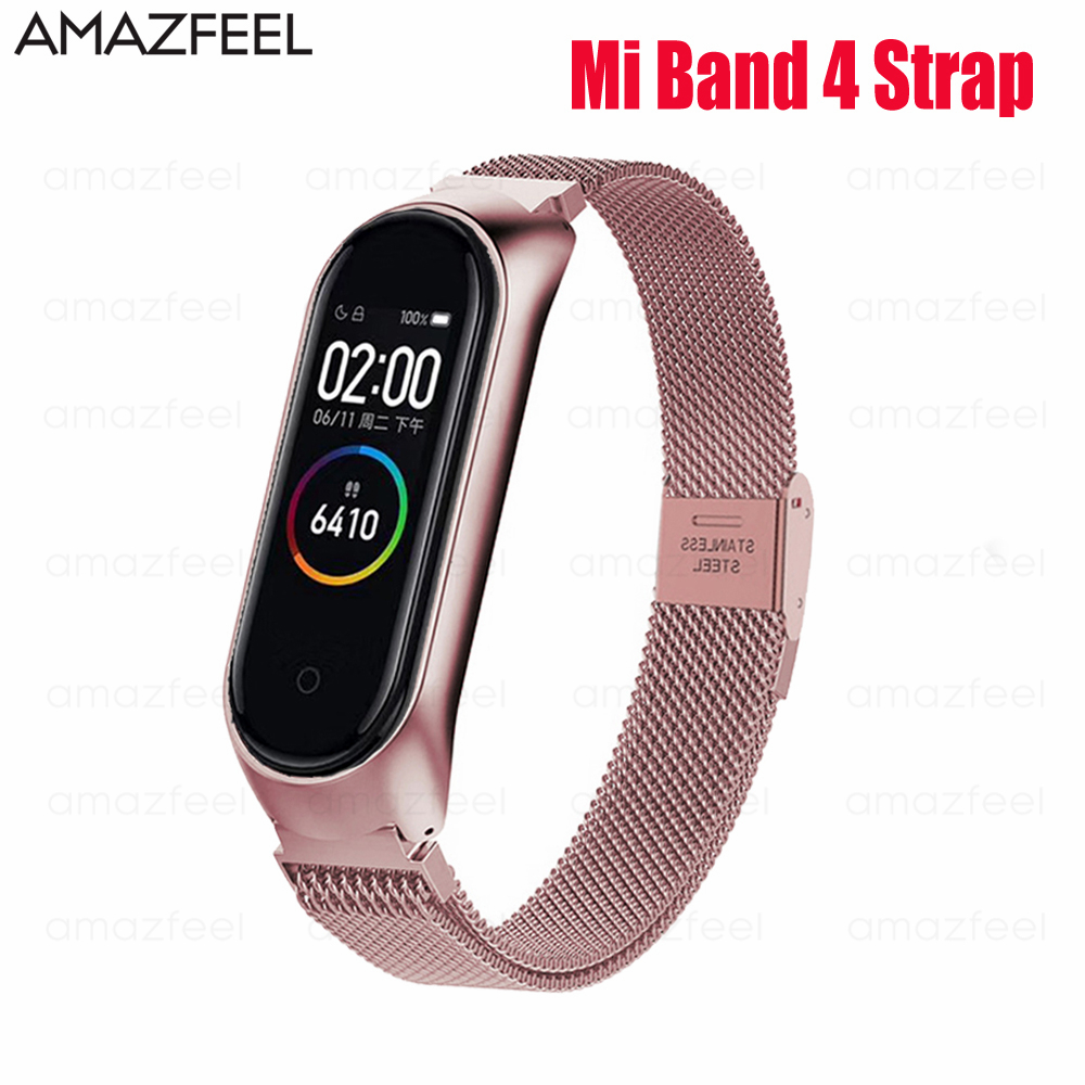 Bracelet For Mi Band 4 Strap MiBand 4 Strap Metal Stainless Steel Wrist Strap Miband 4 Wristband Pulseira Miband4 Belt