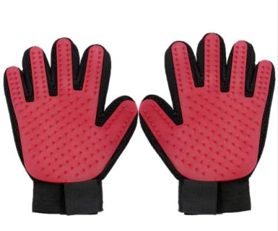 Щетка для собак, перчатка для питомцев, мягкая эффективная перчатка для ухода за домашними животными и кошками, перчатка для ванны собак, товары для чистки кошек, перчатка для домашних животных, расчески для собак - Цвет: red1