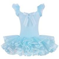 التجزئة الوردي الأزرق اللباس توتو يوتار الباليه حزب تظهر زي جديد القوس نمط سكيت تنورة جميلة لينة كم