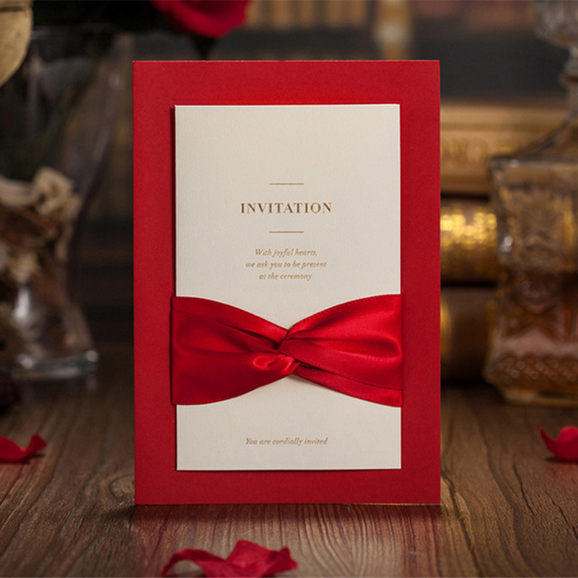 1pcs sample red hollow laser cut wedding invitations card 1pcs sample red hollow laser cut wedding invitations card personalized custom printable with ribbon envelope stopboris Gallery