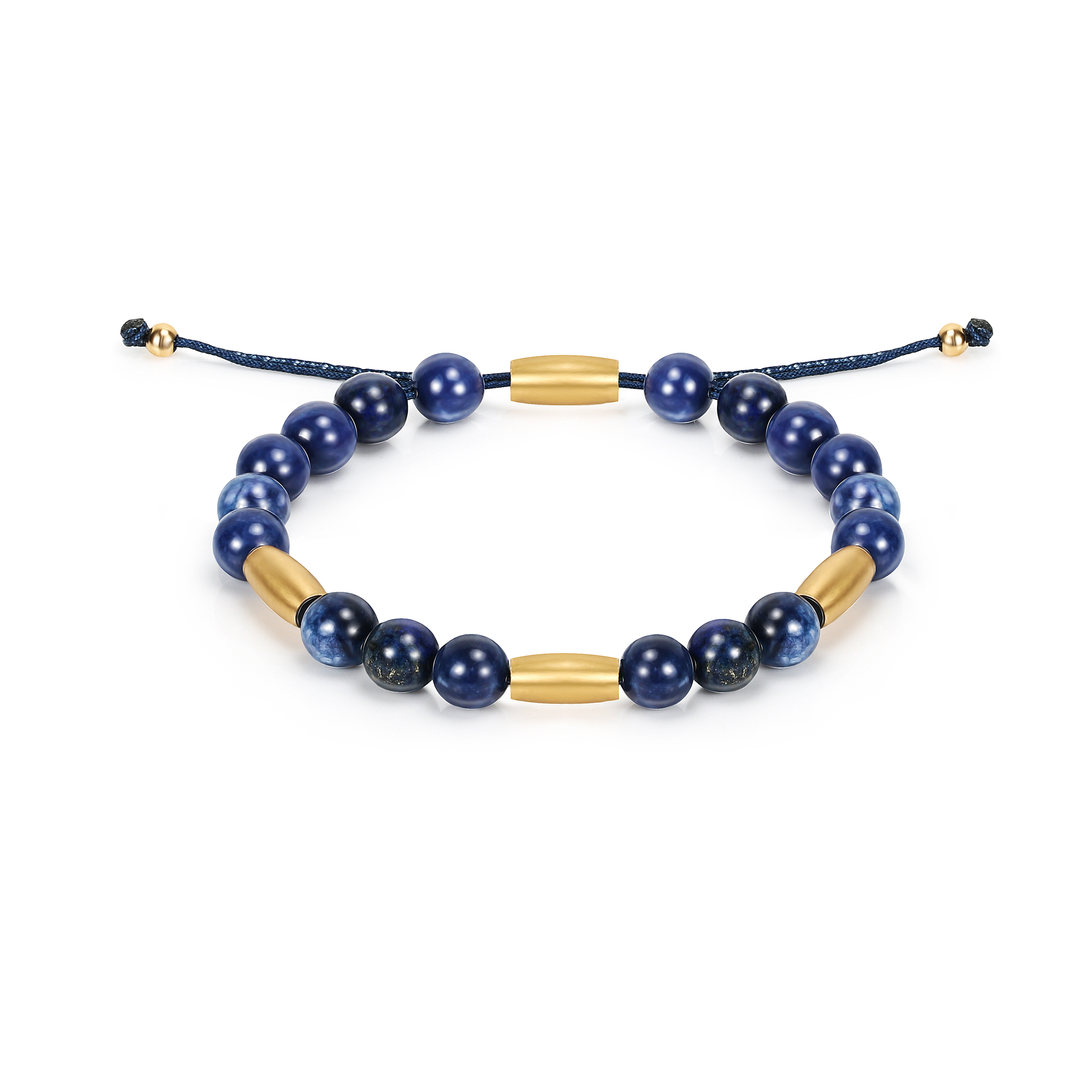 Natural Stone Lapis Lazuli Beaded Bracelets for Women Men High Quality Fashion Round Stretch