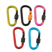 SEWS Aluminum Carabiner 8cm D Ring Locking Key Clip Hook Snap For Sport Security font b
