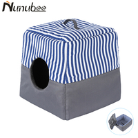 Nunubee Waterproof Kennel Stripe Multi functional Two Use Dog Bed Pet House Puppy House Great Quality Cat Bed