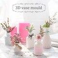 Mini Vase Silikon Formen Stereo DIY Gips Silikon Mold Home Dekoration Topf Ton Handwerk Gips Formen-in Lehm-Formen aus Heim und Garten bei