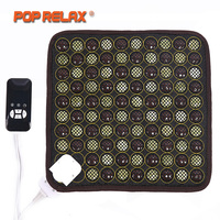 POP RELAX Korea Health Seat Mattress Jade Tourmaline Germanium Electric Heating Pad Knee Pain Relief Thermal Stone Mat Mattress