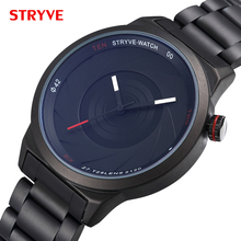 Stryve 6001 Brand Photographer Series Unique Camera Style Classic Black Stainless Steel Waterproof Top Luxury Men Wrist Watches