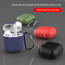 лучшая цена Airpods case Airpods 2 case Airpods2 generation silicone earphone protection case silicone material 2019 new