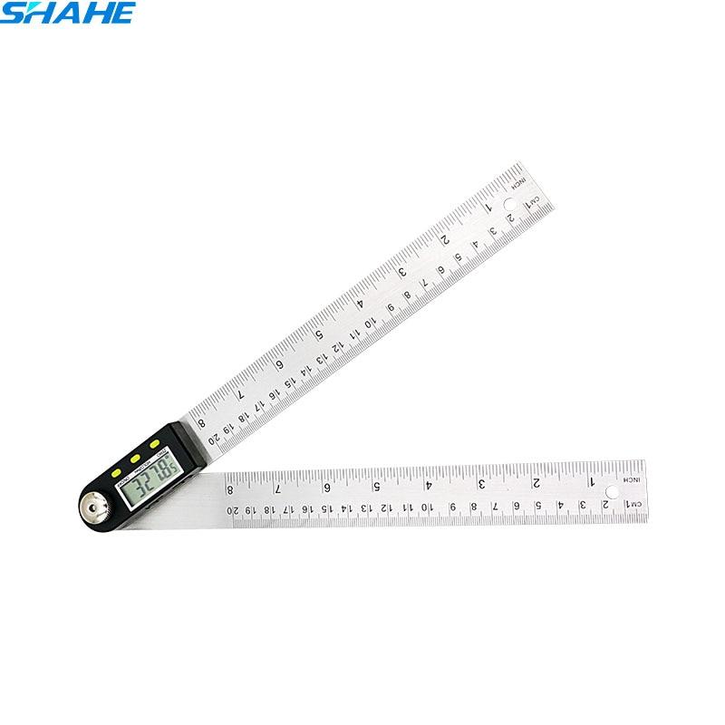 200 milímetros 8 ''Digital governante ângulo Transferidor Inclinômetro eletrônico medições goniômetro governante ângulo de aço inoxidável