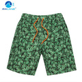 GL Brand men beach shorts summer green leaf boxers for men beach swimwear short mens board quick drying casual shorts