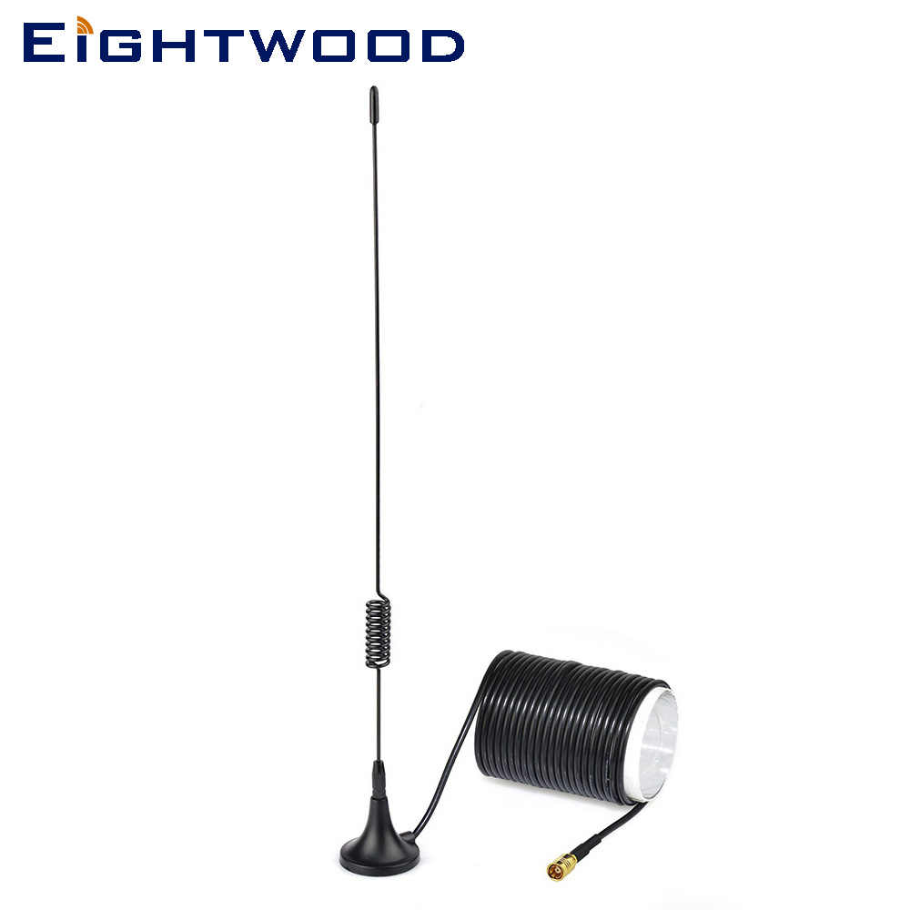 Eightwood DAB/DAB+ Car Radio Aerial Magnetic Mount DAB Antenna with SMB Connector for Blaupunkt Alpine JVC Kenwood Sony pioneer