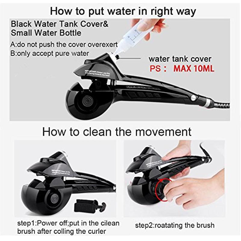 Купить с кэшбэком New Hair Curler Steam Spray Automatic Hair Curlers Digital Hair Curling Iron Professional Curlers Hair Styling Tools 110-240V