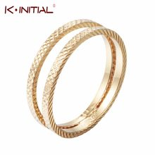 Luxury Gold Knot Wave Geometiric Rings Romantic Multi Layers Curved Ring Jewelry for Women Wedding Finger Wrap Rings Gift(China)