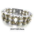Hollow Openwork Biker Stainless Steel Bracelet Punk Rock Style Bracelet Men's Link Wrist Silver Gold Bracelet Size 20x240mm