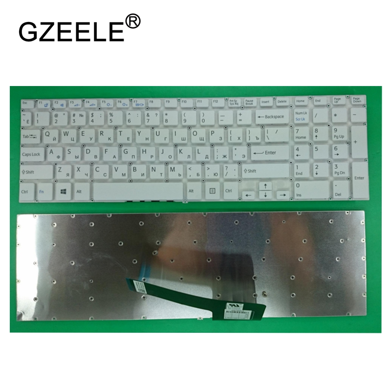 GZEELE NEW Russian RU laptop Keyboard for Sony VAIO SVF152C29V SVF153A1QT SVF152 SVF15A100C SVF152100C SVF153 SVF1521Q1RW SVF15 90% lcd top cover for sony vaio svf152c29v svf153a1qt svf152100c svf1521q1rw cover no touch