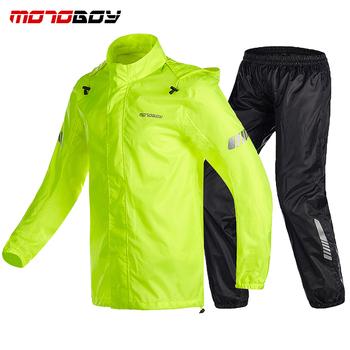 MOTOBOY motocykl wodoodporny płaszcz przeciwdeszczowy Motocross jazda wentylować sport płaszcz przeciwdeszczowy spodnie garnitur motocyklowe kombinezony przeciwdeszczowe tanie i dobre opinie Polyester Nylon VOLERO