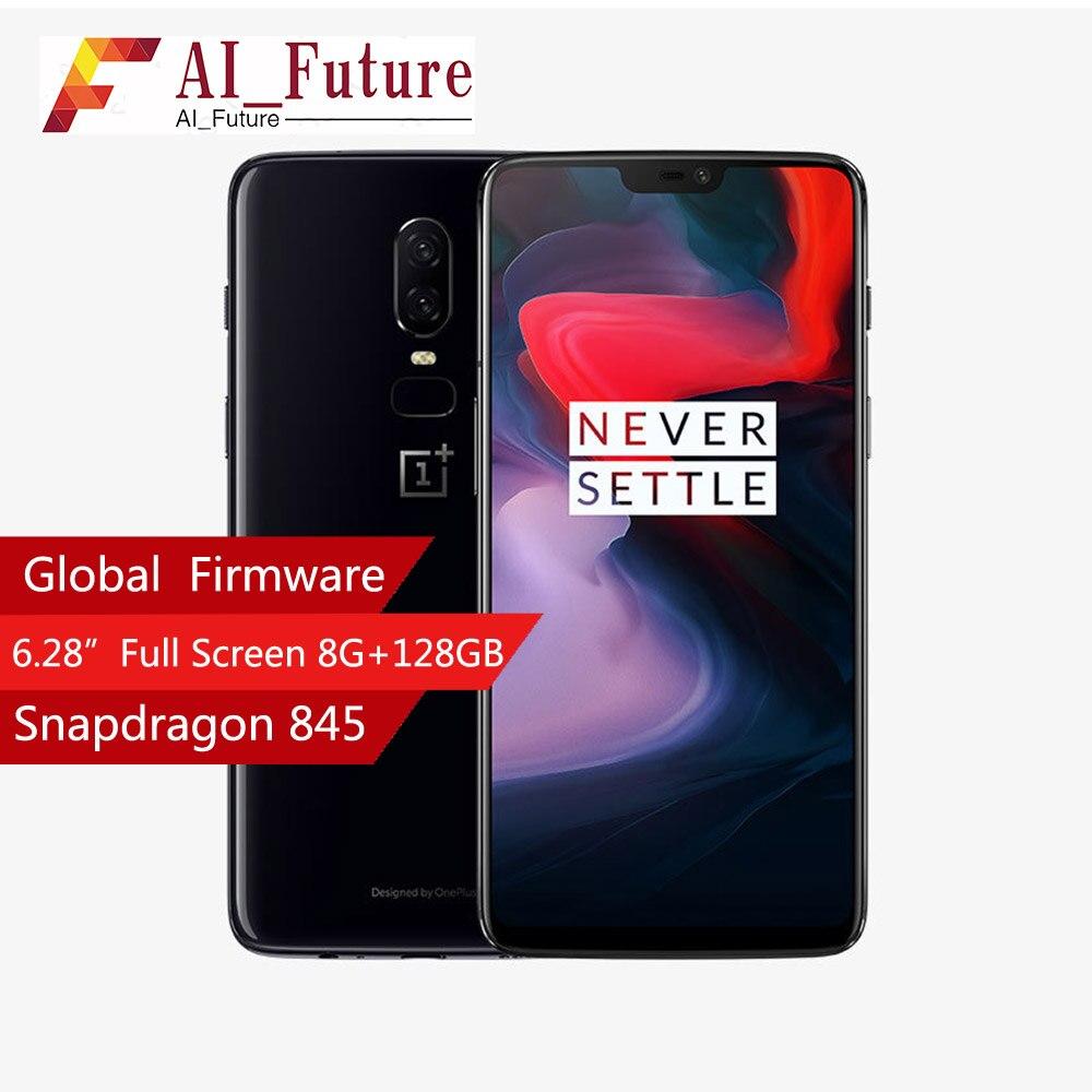 2018 6 Oneplus Telefone Celular À Prova D' Água 6.28 polegada Snapdragon 845 Núcleo octa Android8.1 Dual Camrea 20MP 16MP NFC Telefone À Prova D' Água