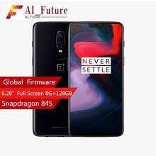 2018 Oneplus 6 Водонепроницаемый мобильного телефона 6,28 дюйма Snapdragon 845 Octa Core Android8.1 ДВОЙНОЙ Camrea 20MP 16MP NFC Водонепроницаемый телефон