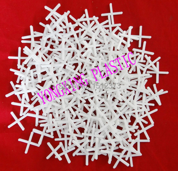 100pcs/bag 2.5mm Plastic Cross/ Tice Spacer/tracker/locating/ceramic Cross With Handle White Color Locate The Ceramic Tile