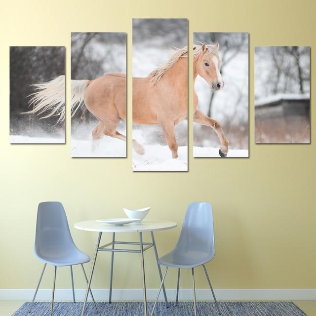5 stuk dier canvas schilderij HD Gedrukt wanddecoraties woonkamer ...
