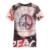 El tamaño asiático, no EE.UU./UE de La Manera 3D impreso camiseta para hombre estilo de manga corta impresa camiseta del verano para hombre Con Cuello En V camisa