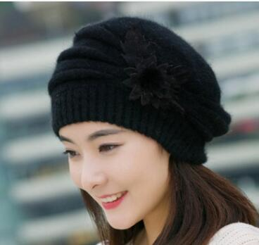 2018 free shipping YaraTui, The autumn winter Ladies knitting wool cap hat thickened in autumn and winter fur hat gift children knitting wool hat cute keep warm rabbit beanie cap autumn and winter hat with earflaps whcn