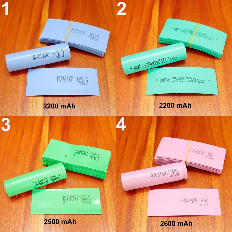 100pcs/lot Lithium Battery Package Skin 18650 Battery Special PVC Plastic Heat Shrink Tubing Shrink Insulation Tubular Film
