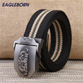 Fashion men's canvas belt HonMeng letters waistband outdoor casual sports belts for male Automatic alloy buckle
