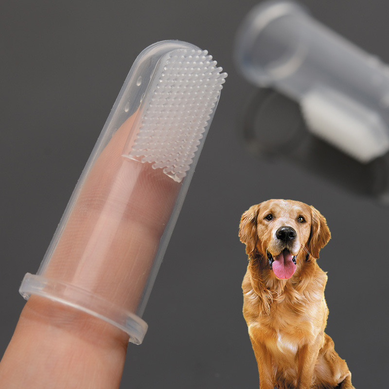 New Hot Selling Super Soft Pet Finger Toothbrush Teddy Dog Brush Bad Breath Tartar Teeth Tool Dog Cat Cleaning Supplies 2019 image