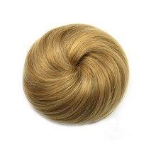 Gres Термостойкое волокно Женская резиновая лента черный/Блонд/коричневый пончик-шиньон синтетические булочки для волос 8 цветов