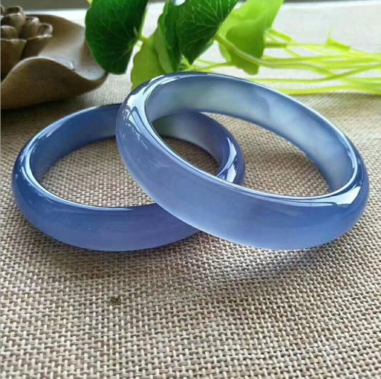 Femmes doux transparent yu torsion bracelet de manchette bracelet bleu bracelet meilleur cadeau amour mère dame cadeau bijoux fins