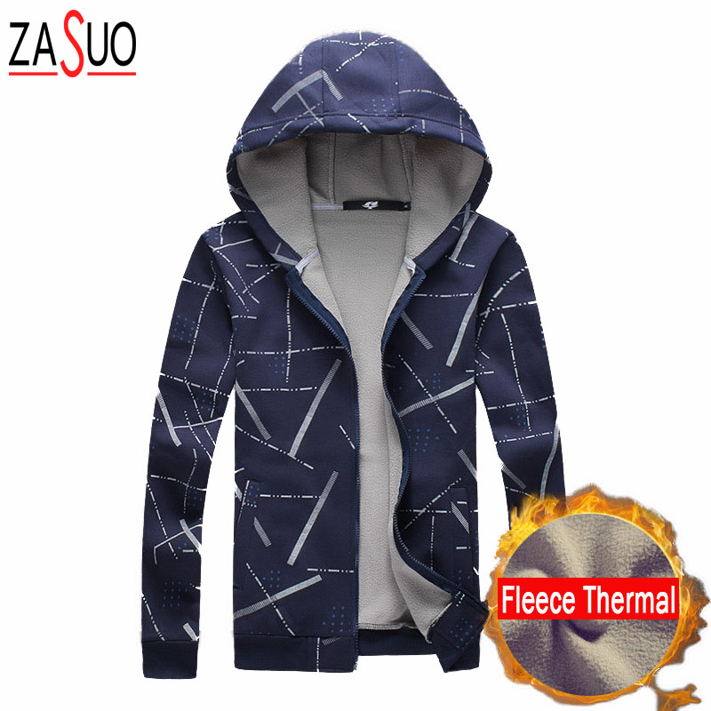 Winter 2016 New Fashion Brand Mens Fleece Thermal Jacket Korean Slim Fit Designer Clothes Men Cotton Casual Jacket Plus 5XL