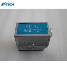 4 МГц 8x9 70 градусов угловой зонд NDT ультразвуковые зонд