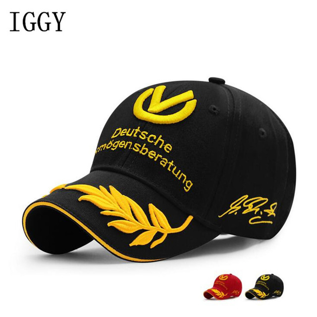 Wholesale Black Red baseball cap 2017 men women hats F1 caps Michael  Schumacher Cap Racing Mens Hat Wheat Embroider 02bda9cbdca1